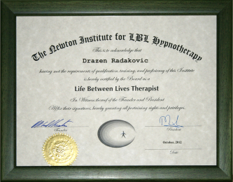 Diploma Newton Instituta - život između života