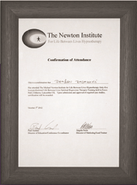 Certifikat o pohađanju tečaja Newton instituta